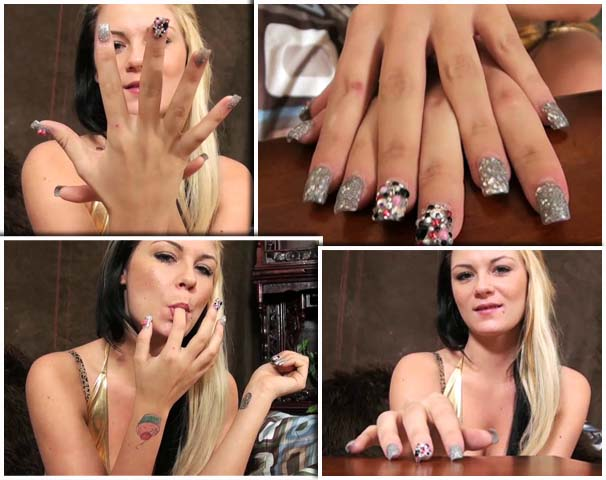 Spectacular Long Nail Sexy Masturbation Instruction